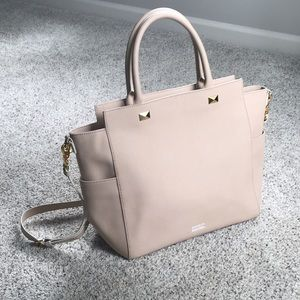Badgley Mischka saffiano leather tote